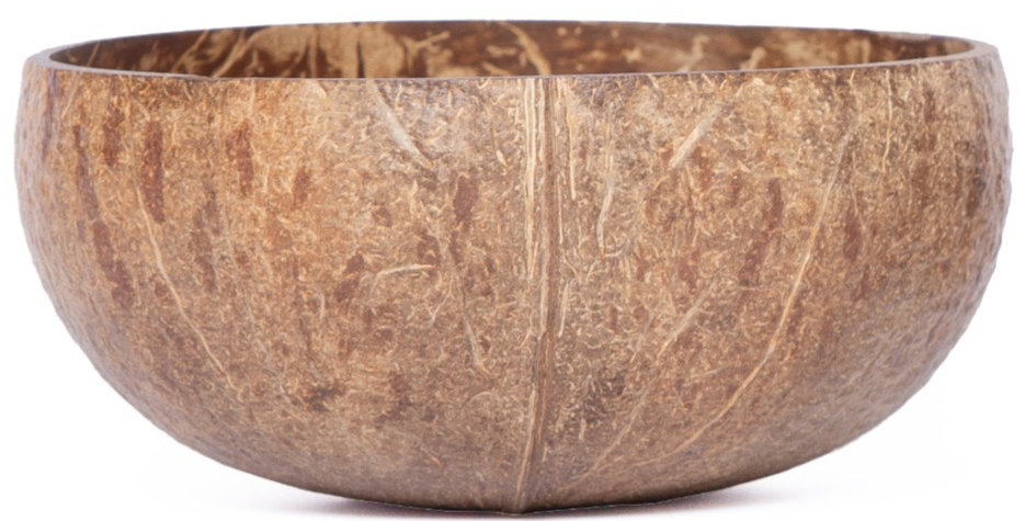 Bohemian Bowl Nomad Design Rustic Natural Handcrafted Coconut Bowl Side View