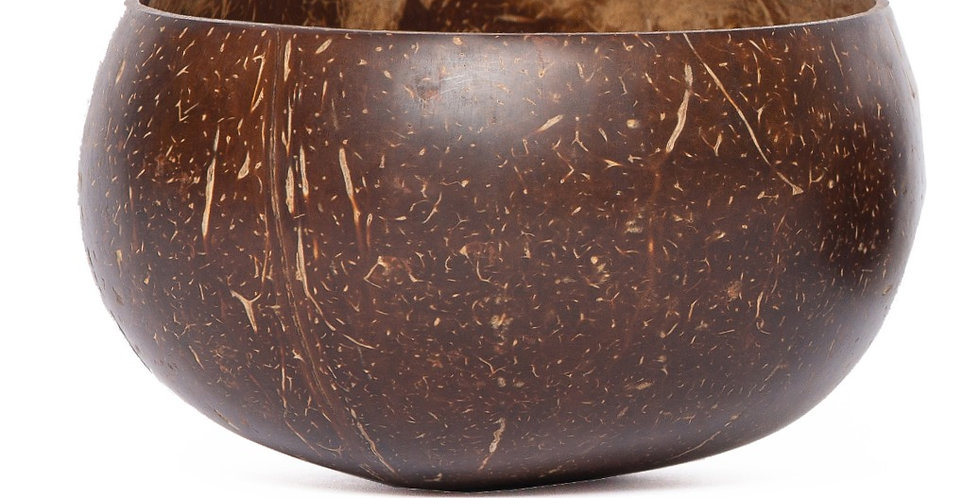 Bohemian Bowl La Jolla Design Polished Handcrafted Coconut Bowl Side View