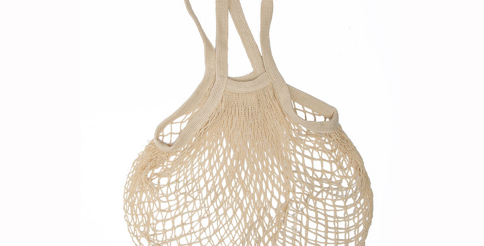 Bohemian Bowls Cotton Market Net Bag Flat Lay