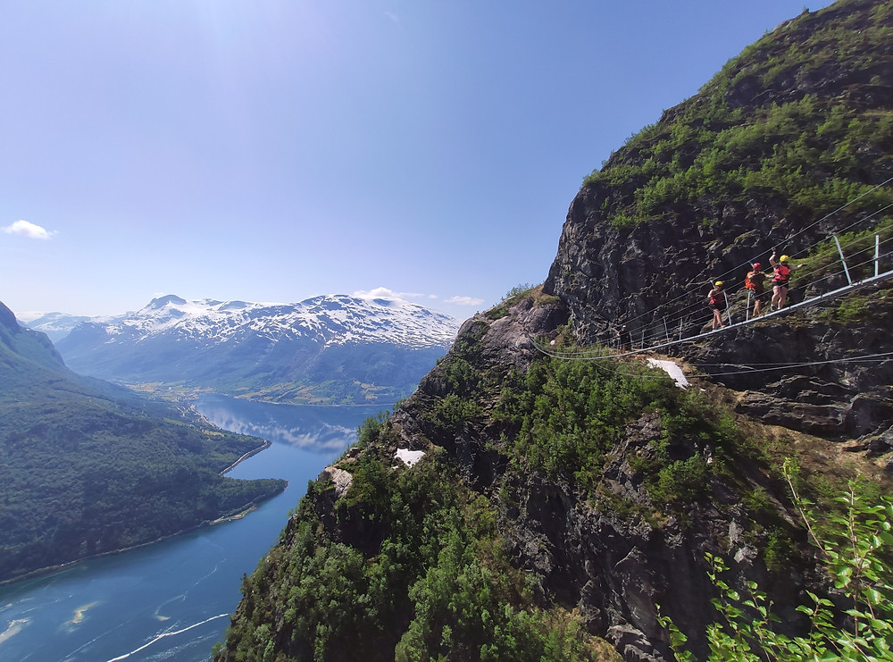 Via Ferrata Loen is a must-do in Loen and Western Norway