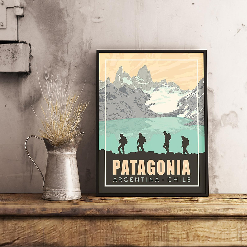 Travel to Patagonia travel poster