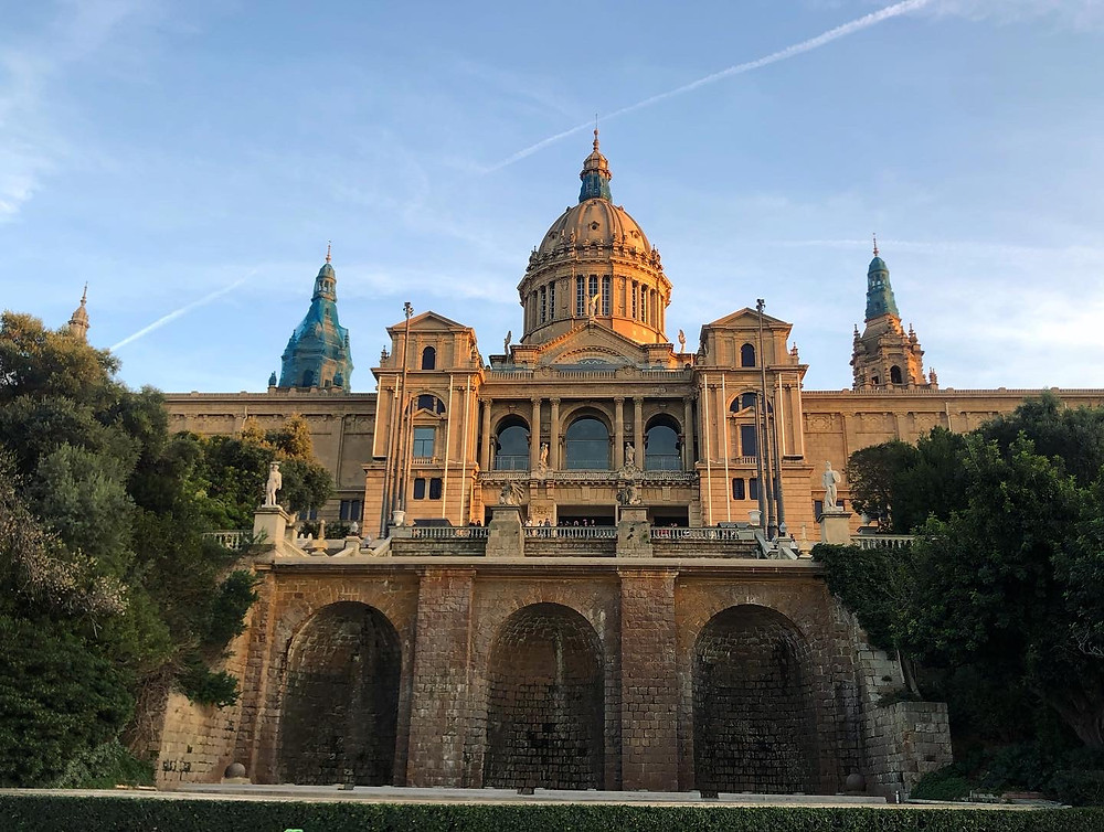 Visiting the National Art Museum in Barcelona while studying abroad