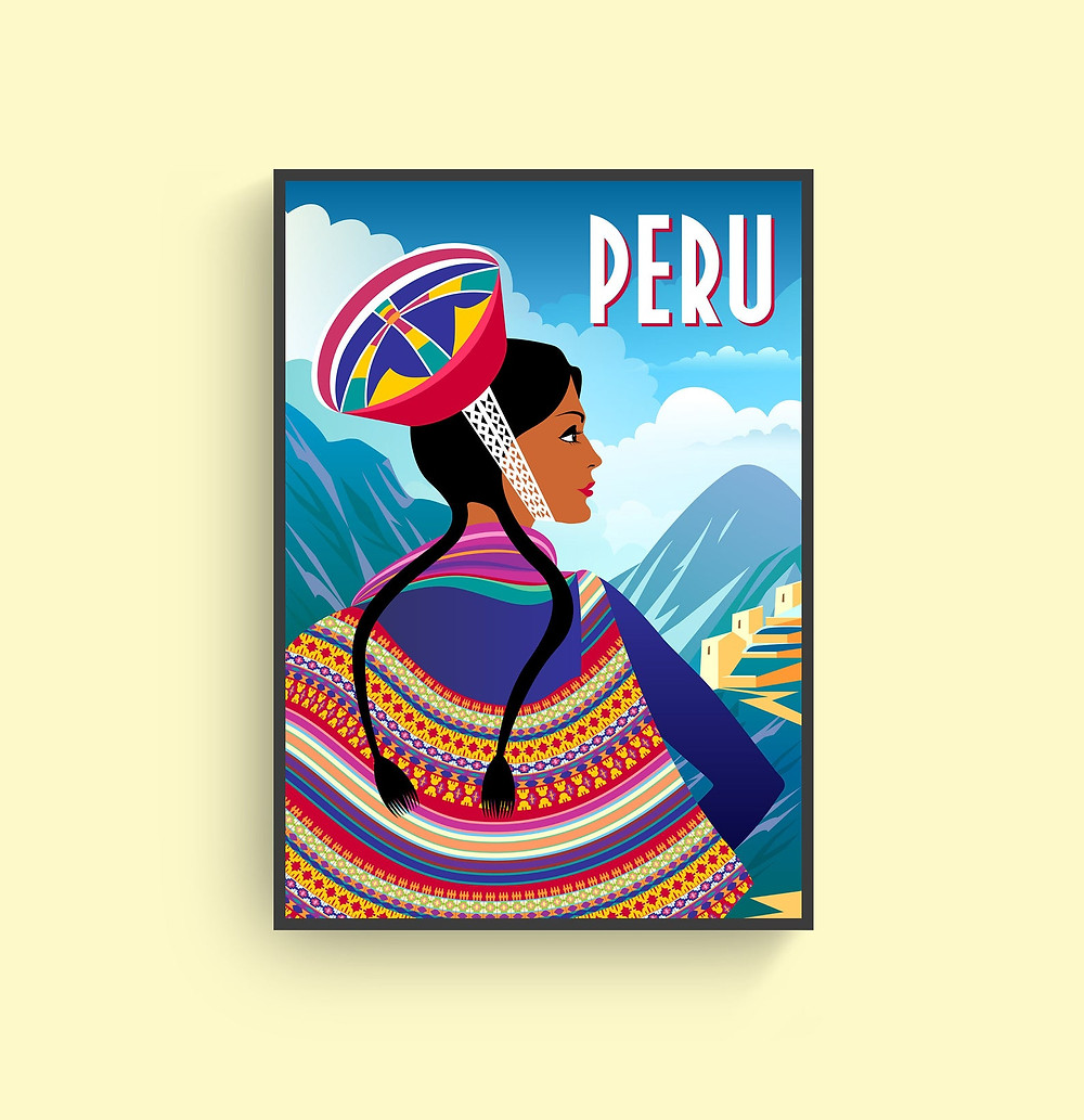 peru travel poster for cajamarca travelers