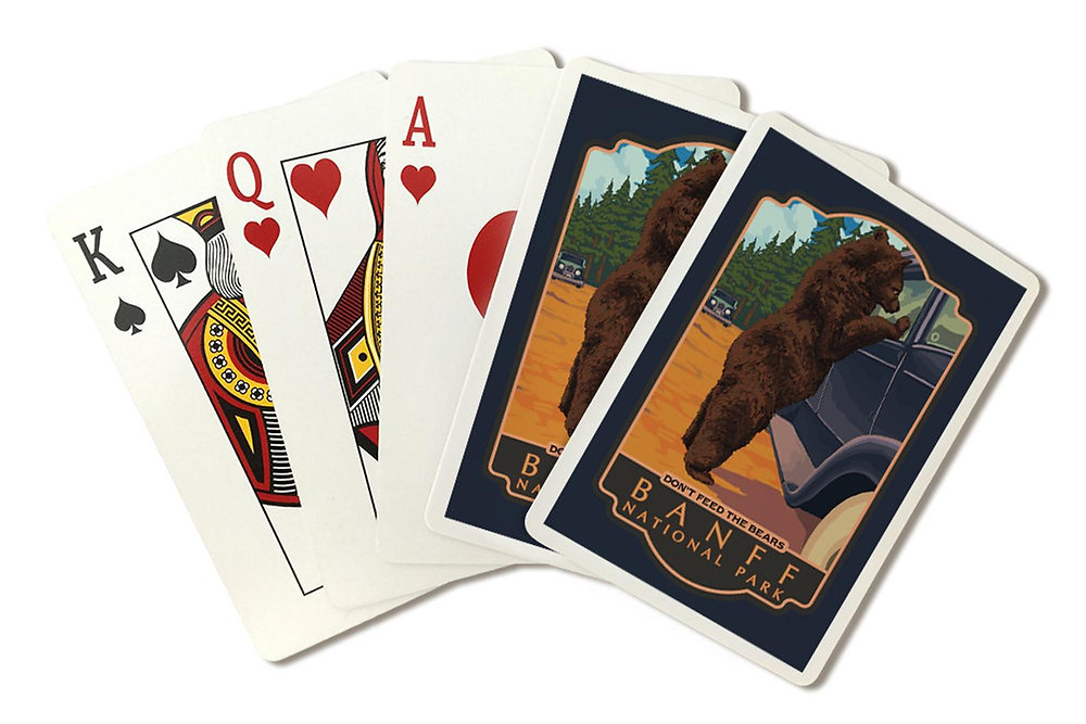Banff National Park playing cards