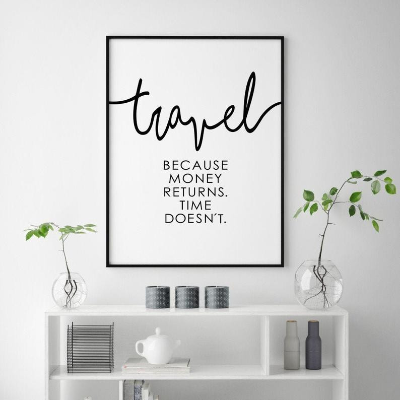 Famous travel quote about money