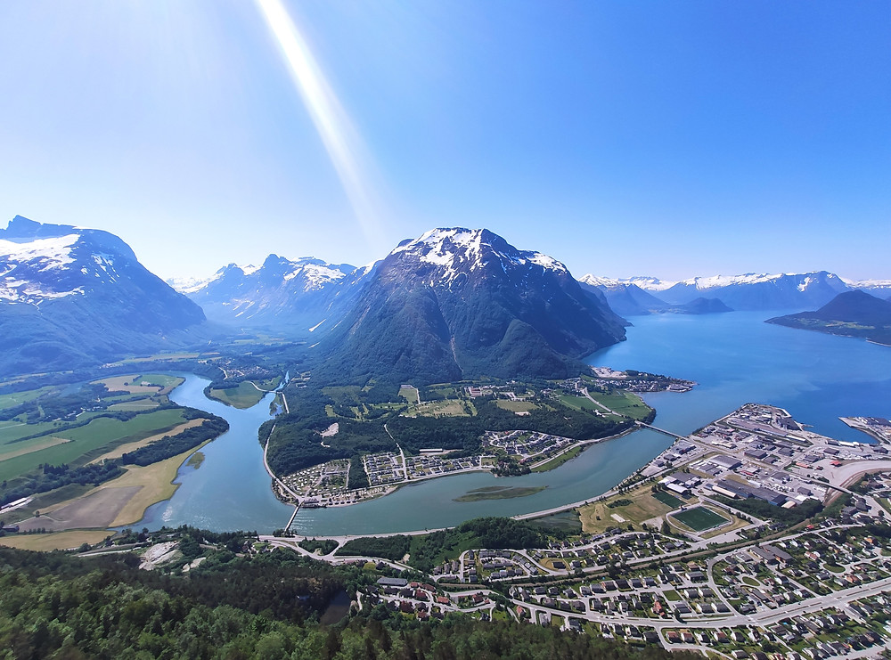 Hike to the Rampestreken viewpoint on your 10-day western norway road trip itinerary