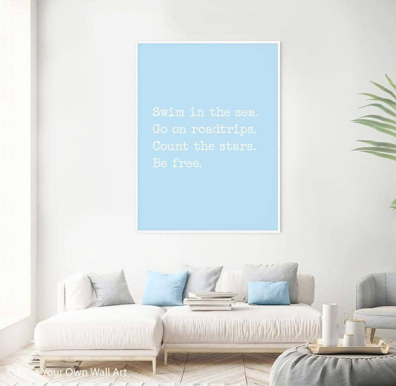 Inspiring road trip quote for posters