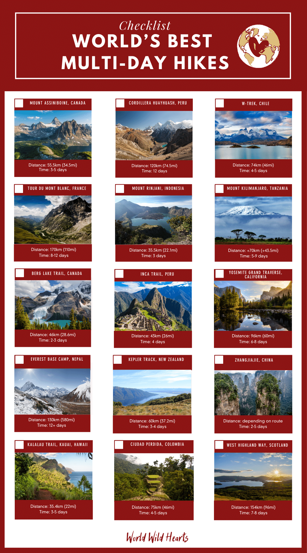 world's best multi-day hikes