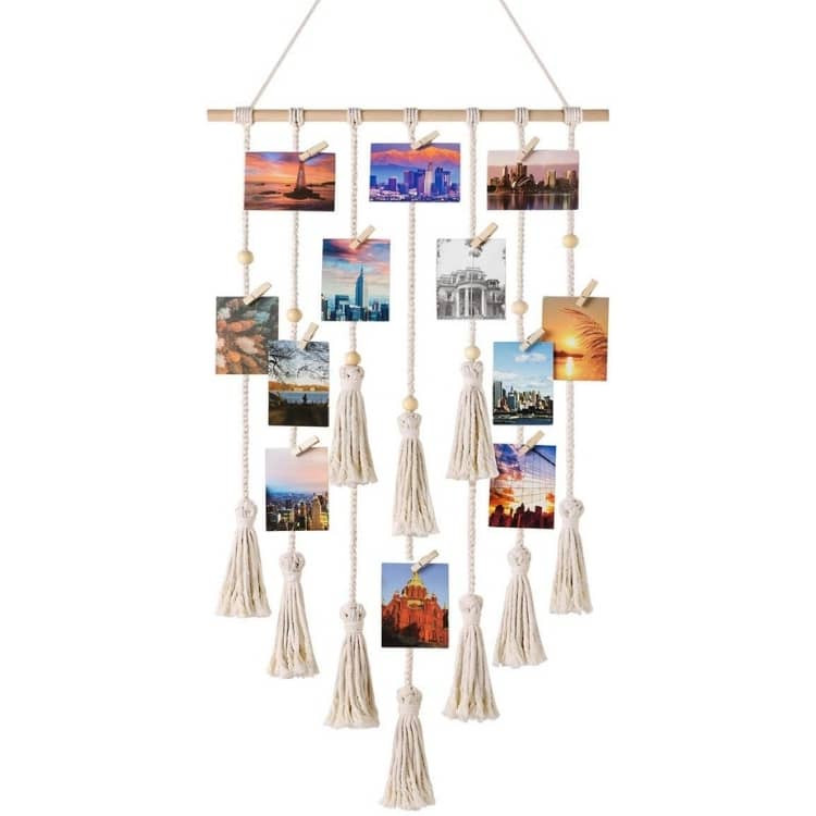 Photo wall for travel mom