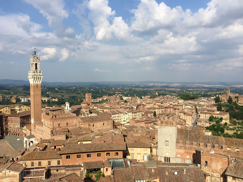 View of Siena while studying abroad in Italy