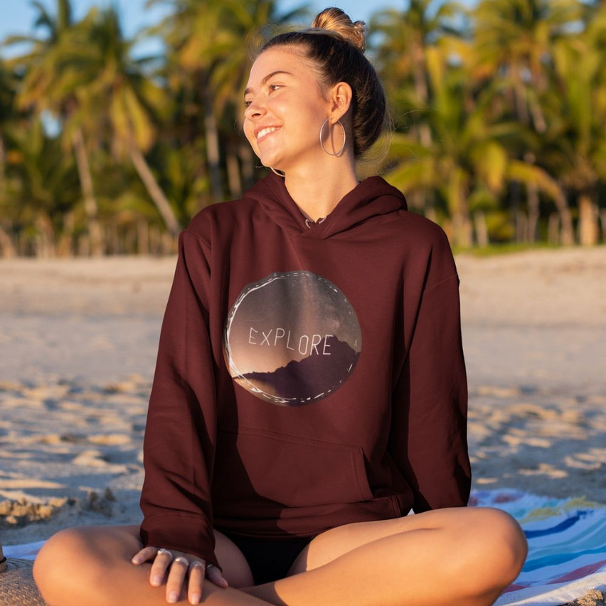unisex explore more hoodie for travelers