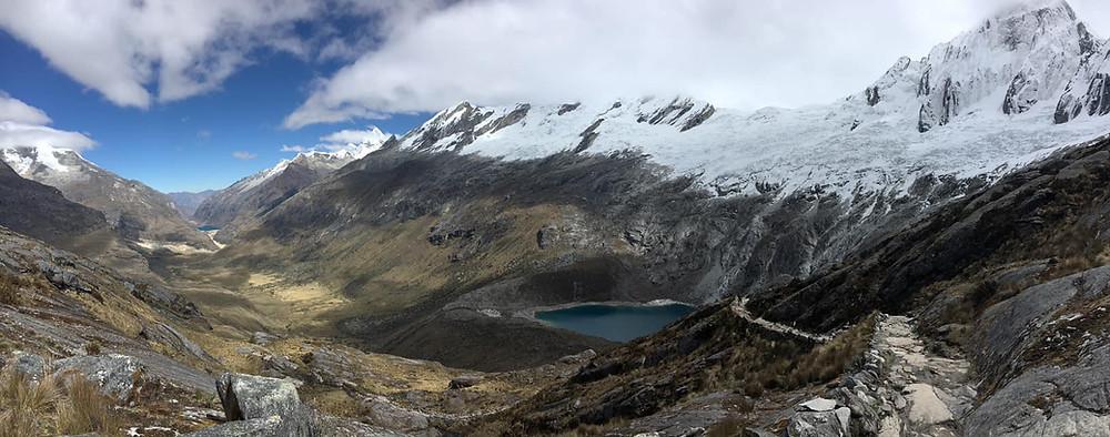 View from the Punta Union pass Huaraz in Peru