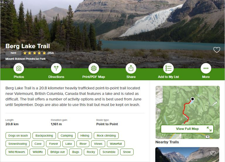 AllTrails app is by far one of the best travel apps