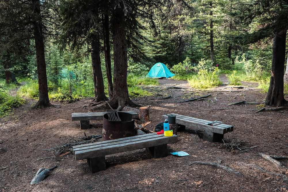 Mount Assiniboine camping at porcupine campground