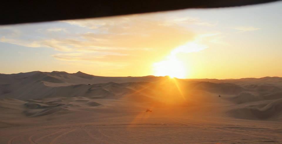 see the Huacachina sunset desert in Peru