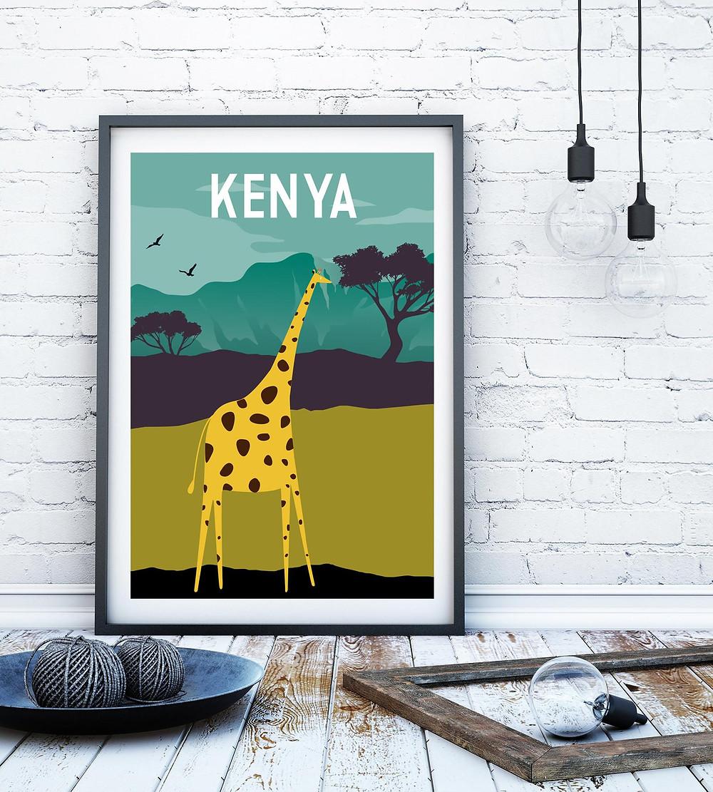 Kenya Travel Poster