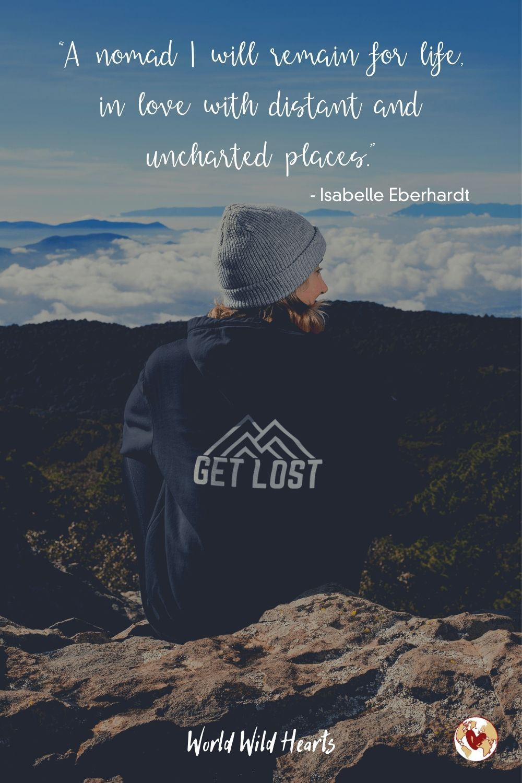 Wanderlust nomadic life quote