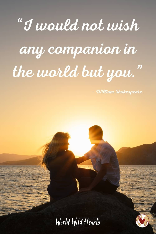 Romantic partner travel quote