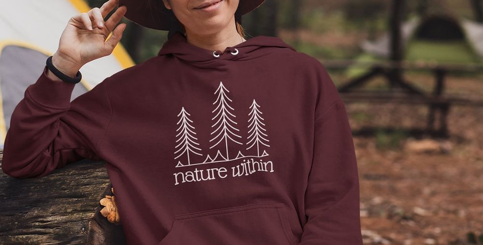 Nature within hoodie