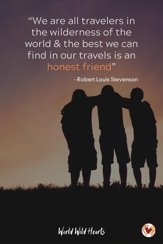 Honest friend travel quote