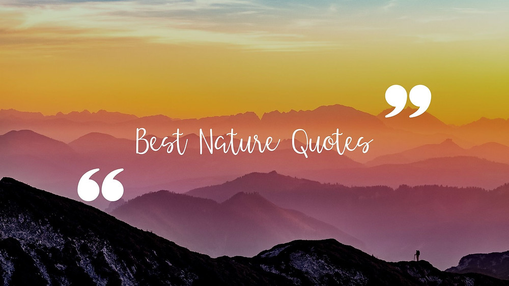 Best nature quotes