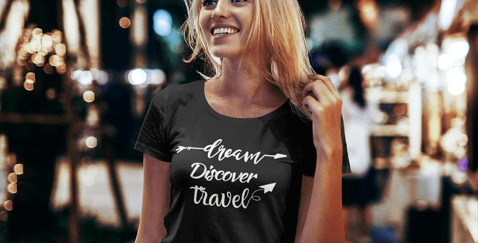 lifestyle view women's travel tee