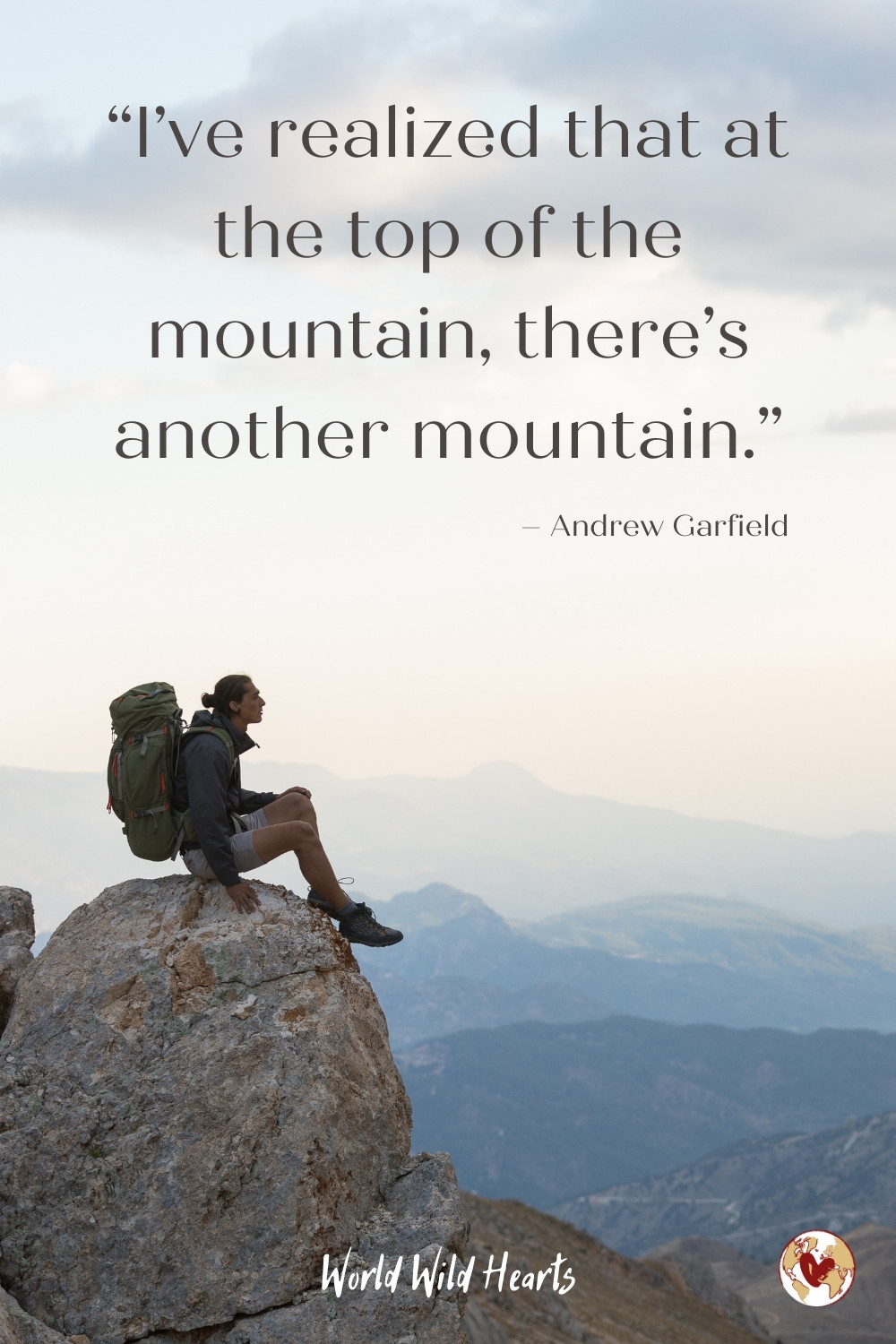 Adventure quote about the mountains