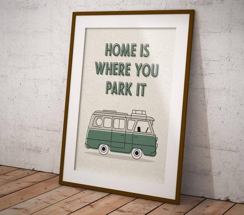 Van life road trip quote
