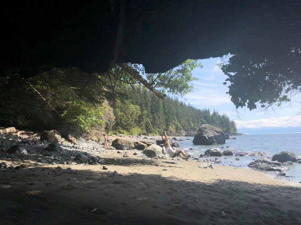 Mystic Beach caves are a great stop on a roadtrip from Sooke to Port Renfrew