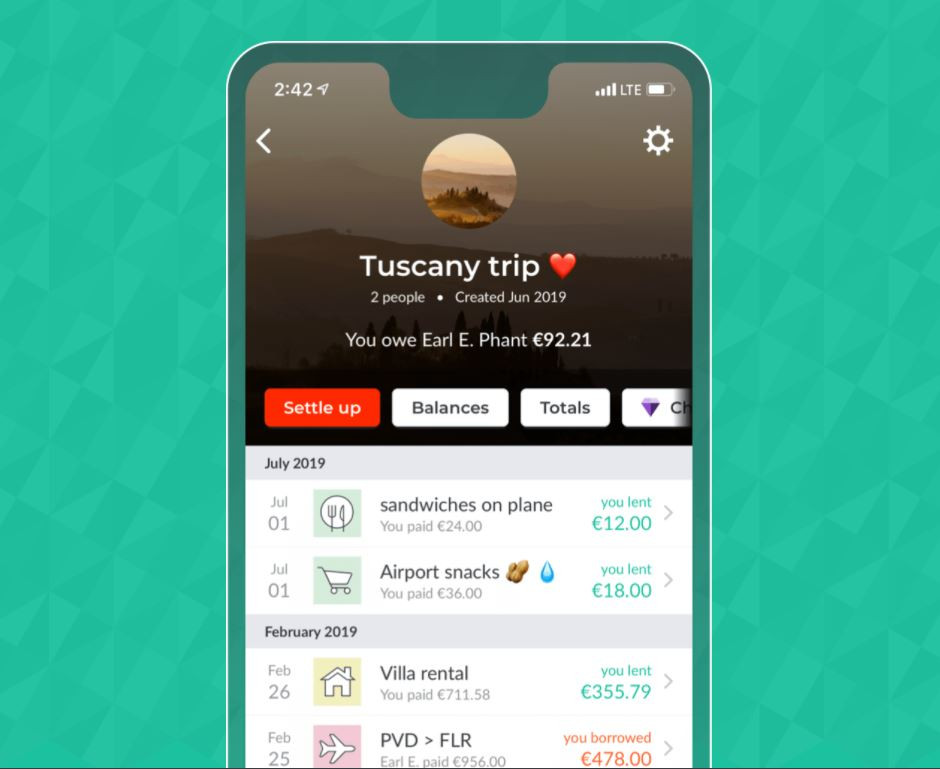 Splitwise is a great travel app that tracks expenses