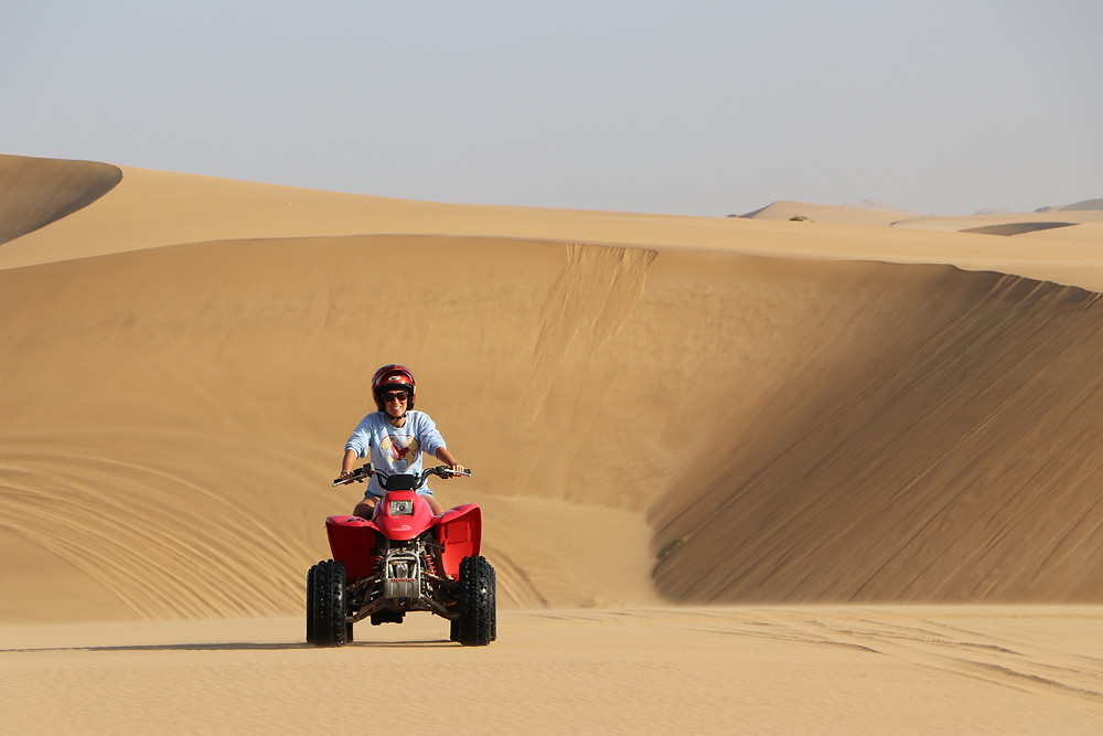 Quad biking in Swakopmund is one of the best things to do in Namibia