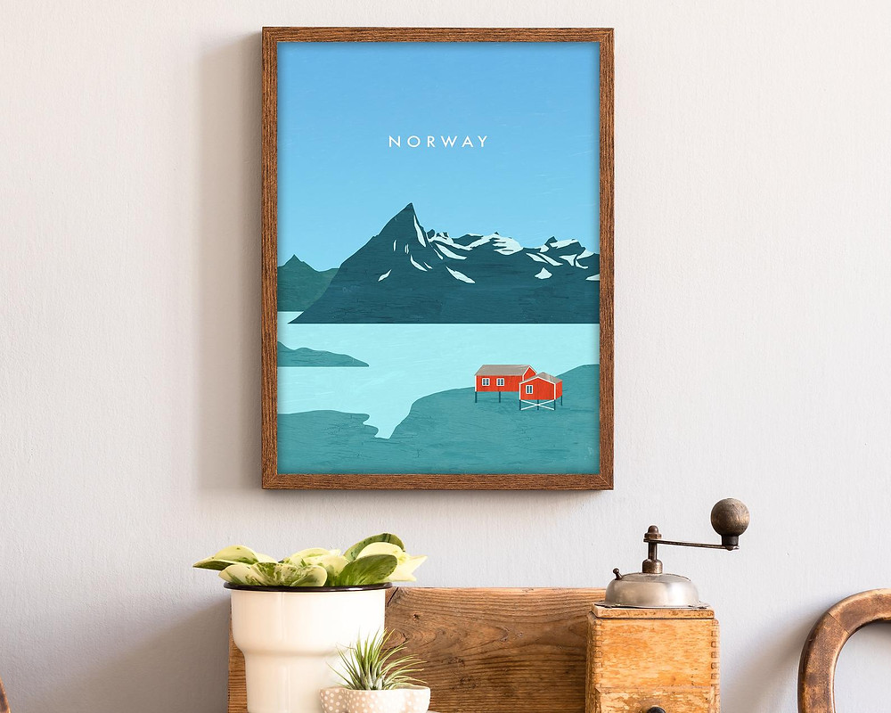 travel to norway poster