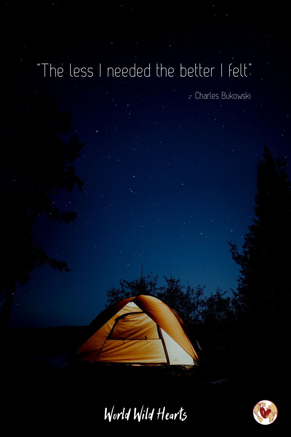 Wanderlust quote camping