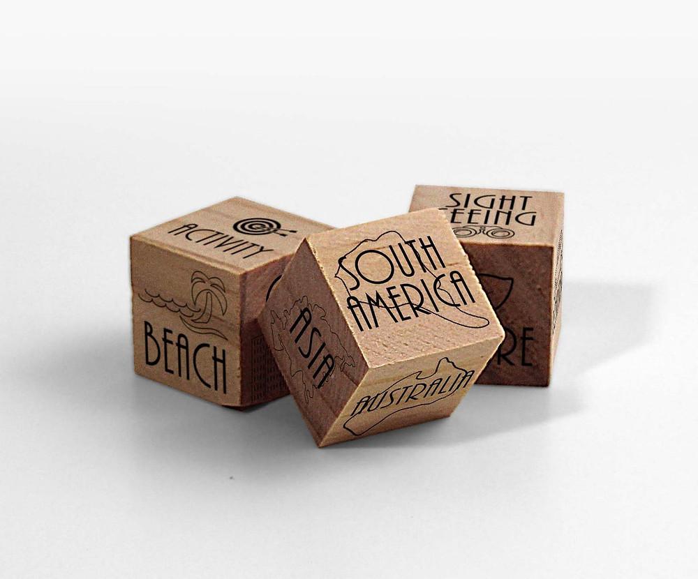 Valentine's Day gift traveler's dice