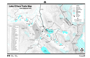 Lake O'Hara Hiking Trails Map