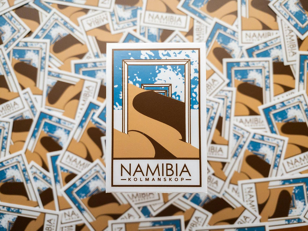 namibia by 4x4 jeep stickers
