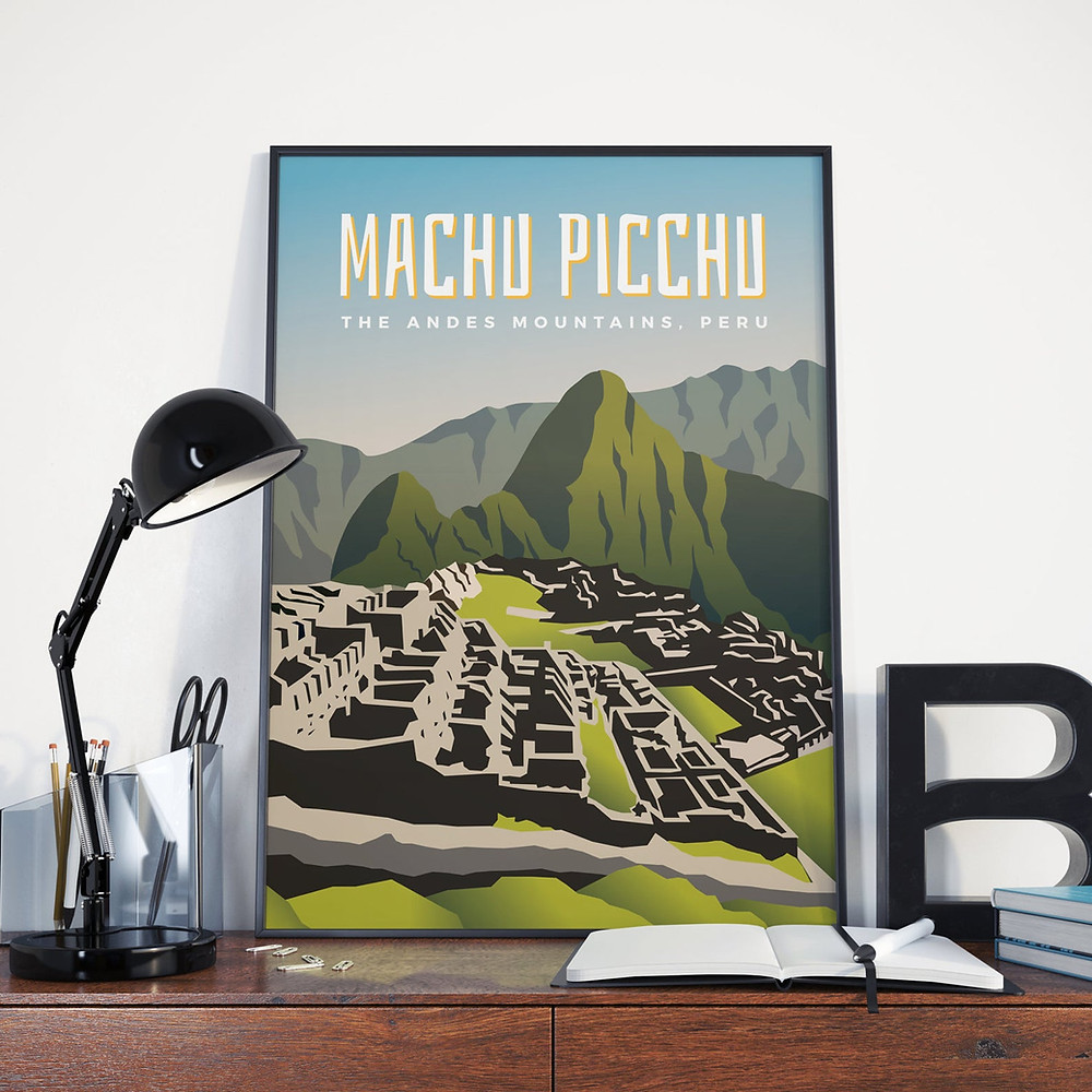 machu picchu poster for hikers