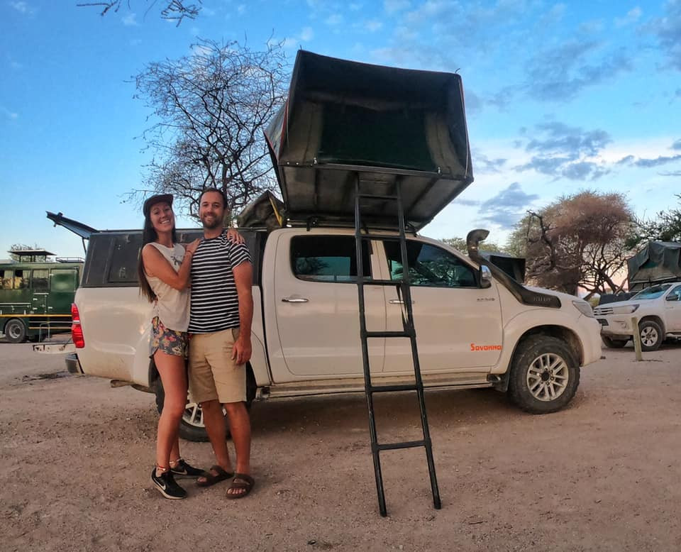 Renting a 4x4 jeep with roof tent in Namibia