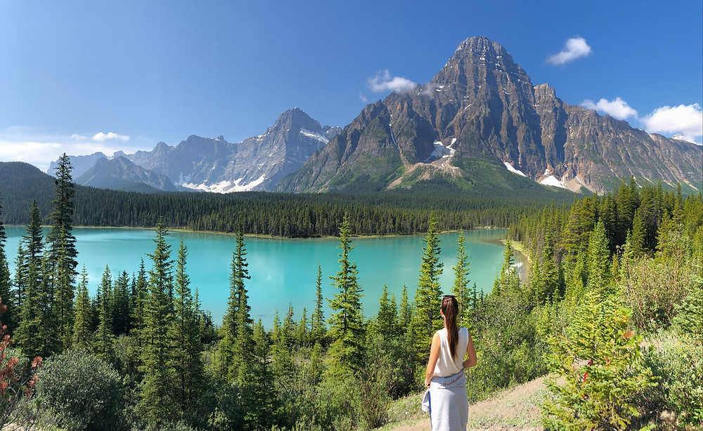 Upper Waterfowl Lake in Banff National Park