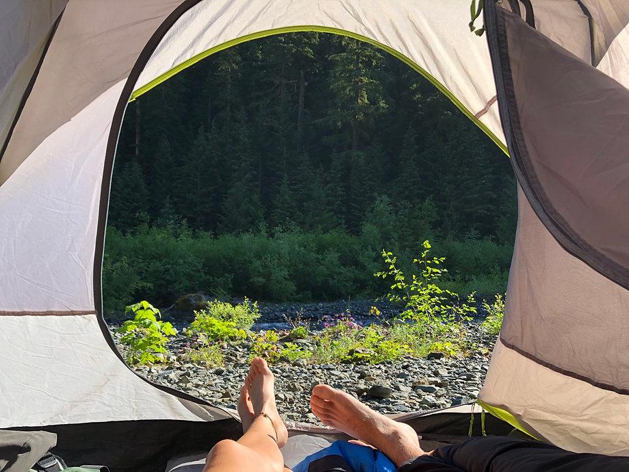 Strathcona Park camping on elk lake trail