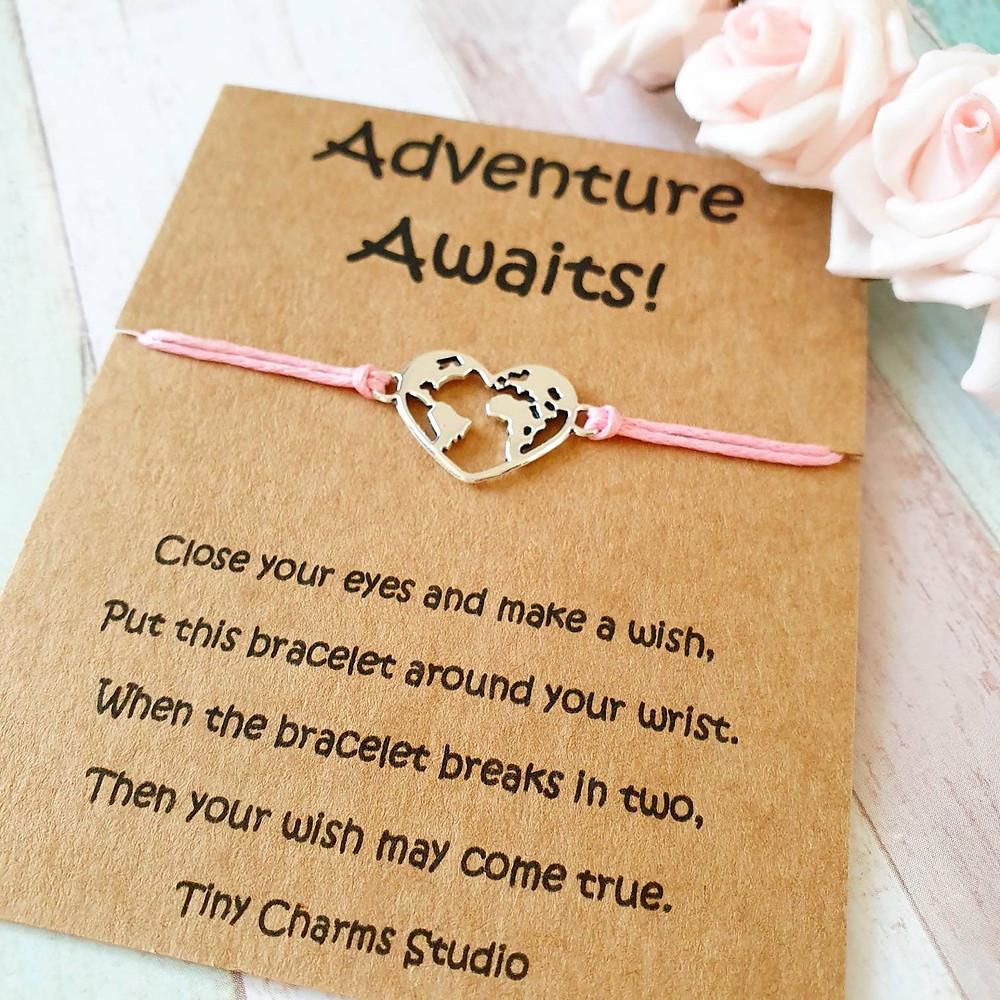 Valentine's day adventure wish bracelet