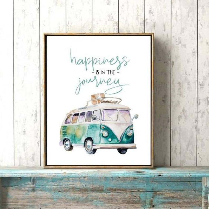 Happiness road trip quote