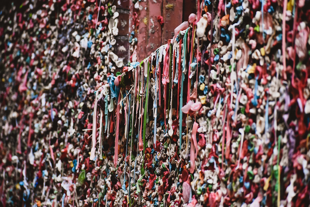 The Gum Wall is a disgusting but at the same time top attraction in Seattle for a picture!