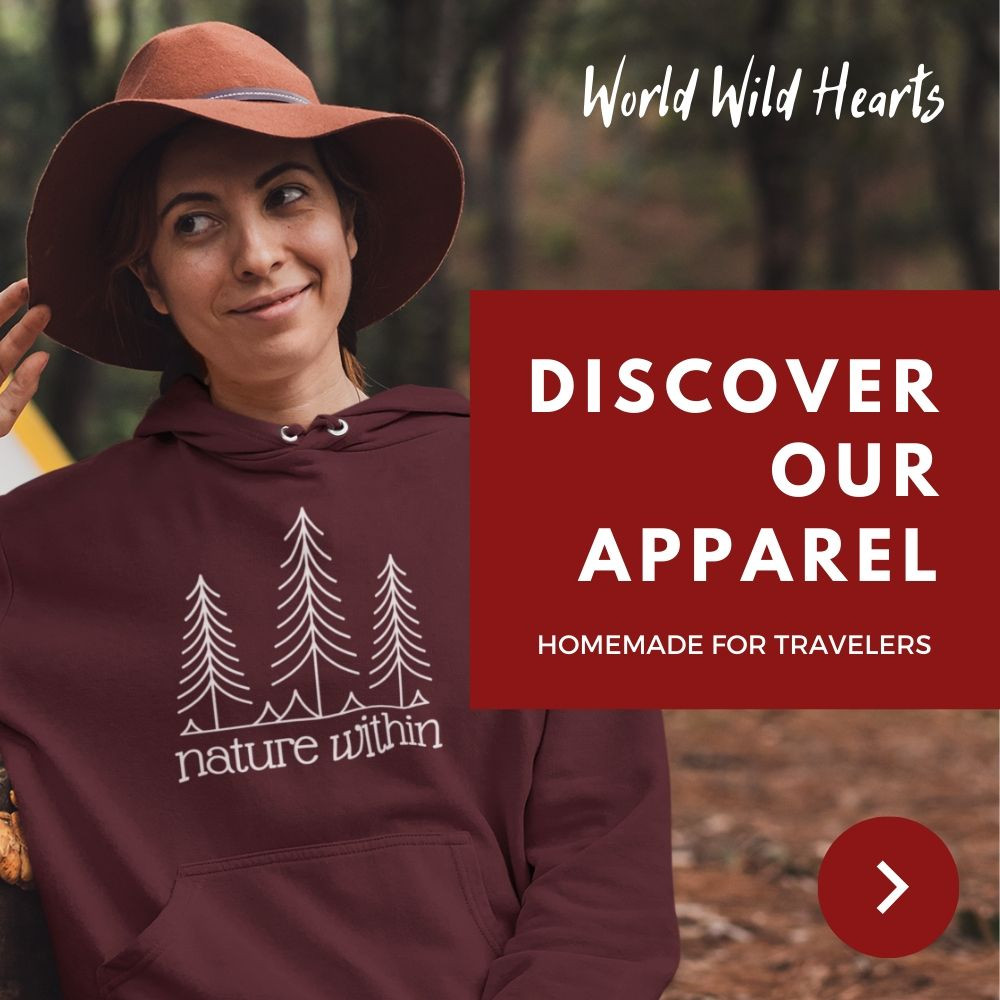 Nature within sweater for travelers