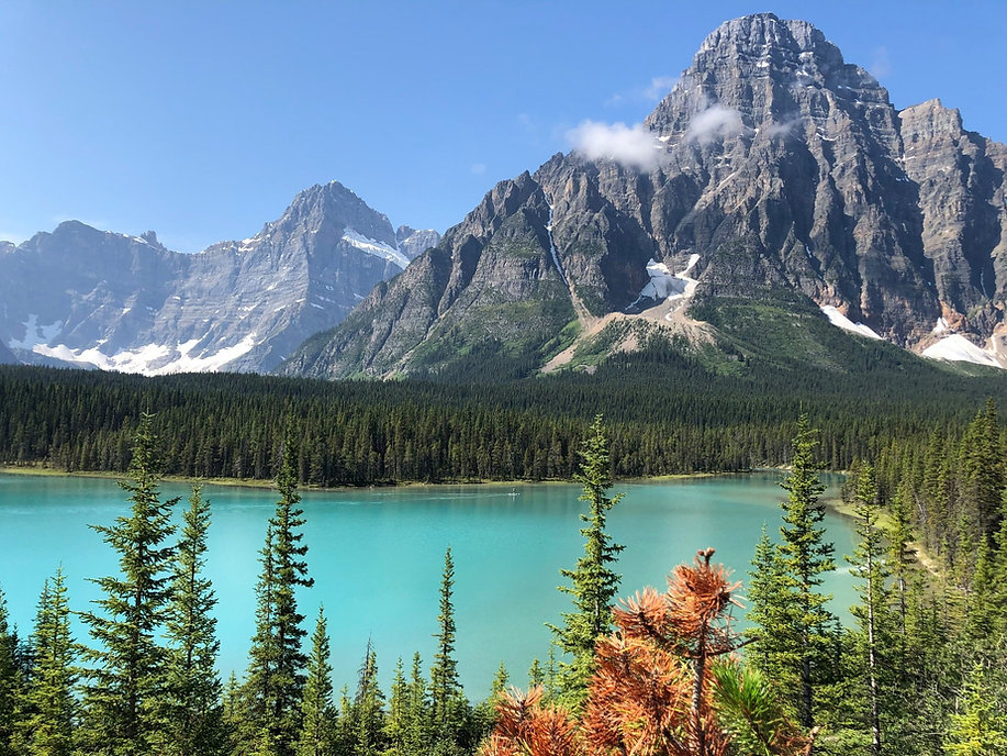 Camping at the Waterfowl lakes along the Icefields Parkway