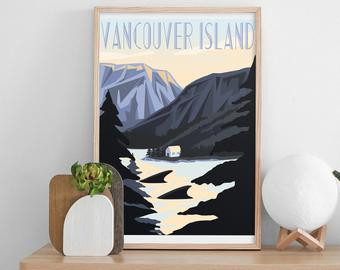 Vancouver Island Travel poster for tofino lover