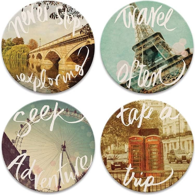 Travel coasters for Mother's Day