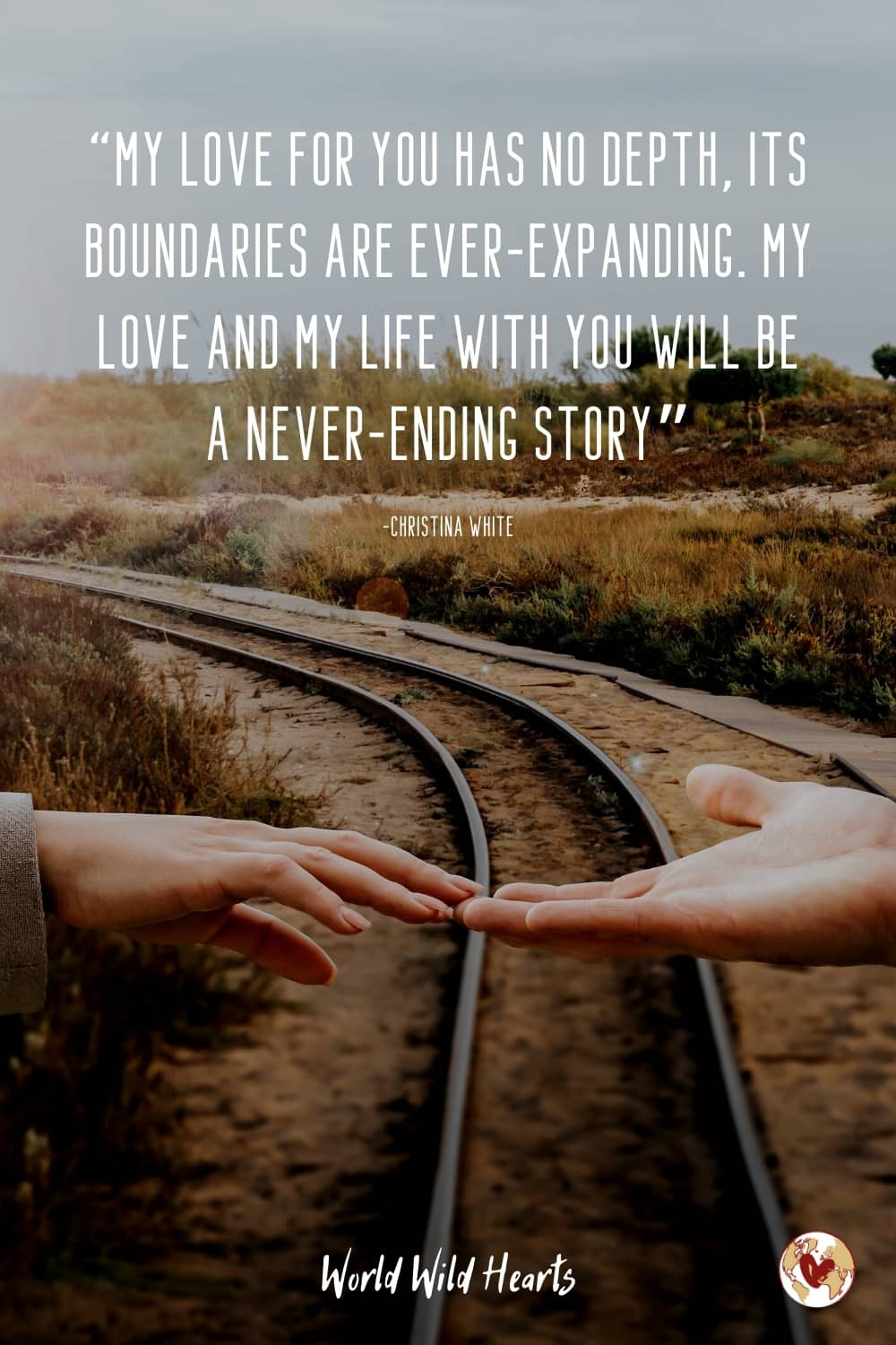 Love forever travel quote couple