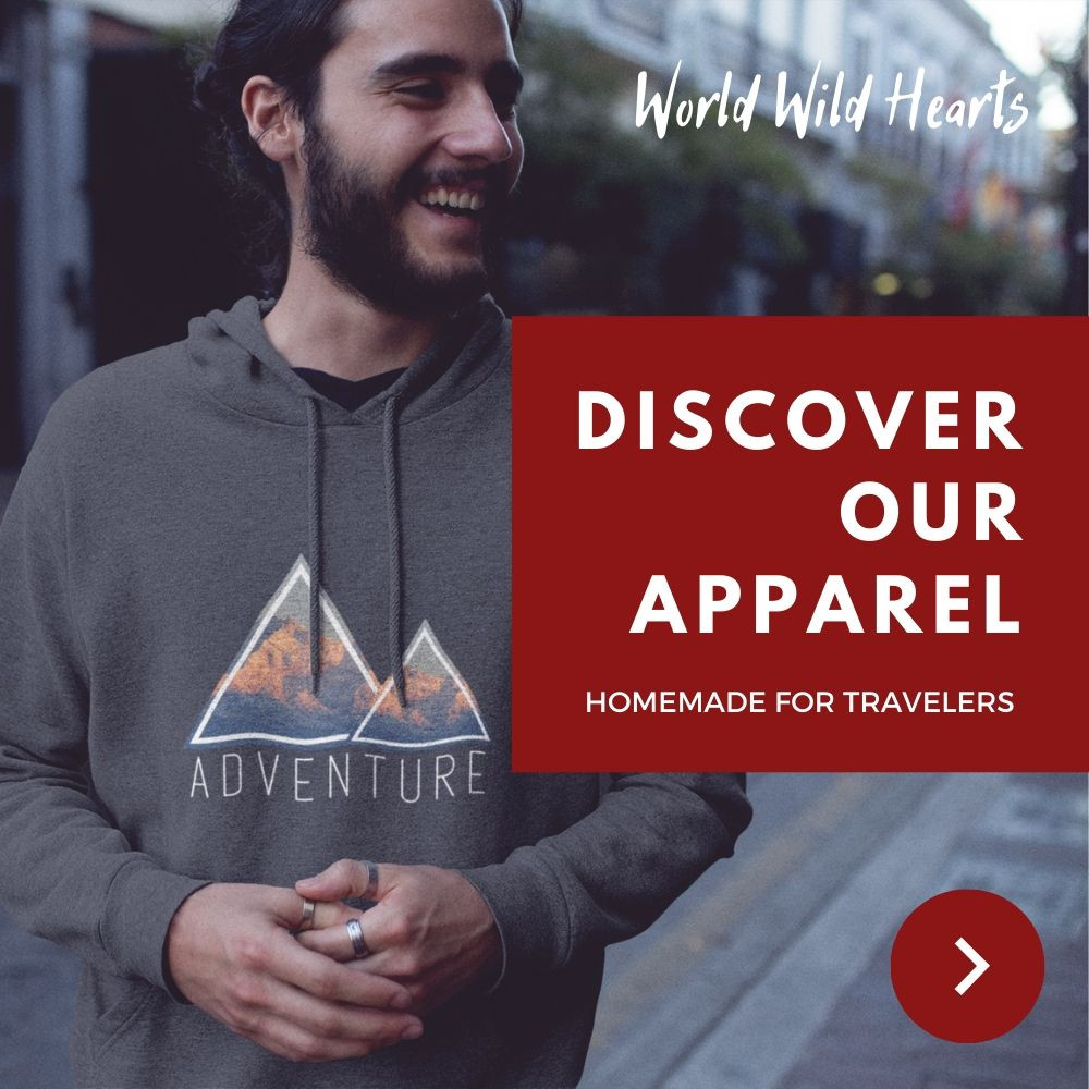 Adventure hoodie for travelers