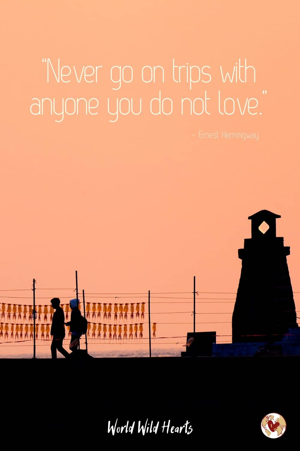 Love travel quote for couples